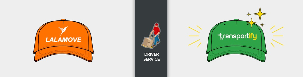 lalamove vs transportify driver service