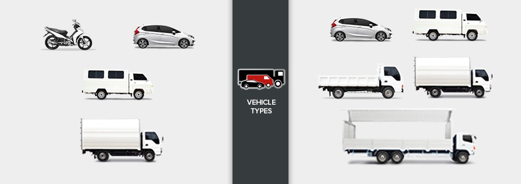 lalamove and transportify vehicle types