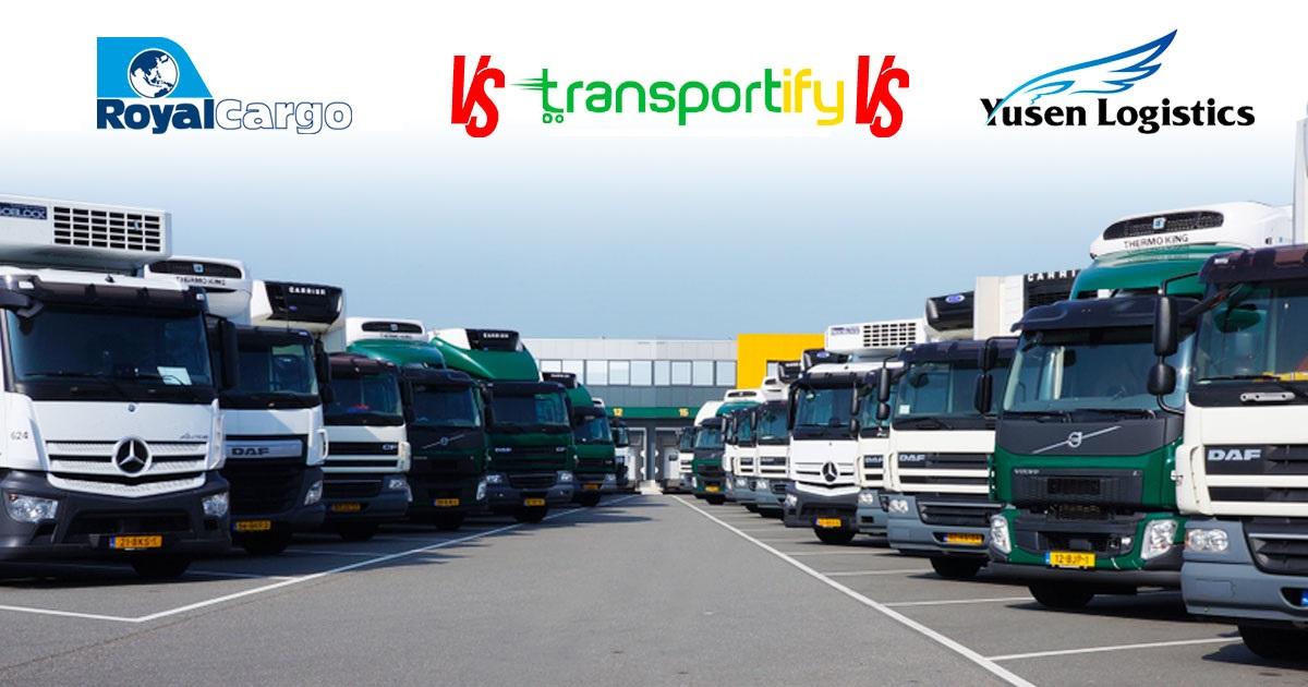 royal cargo vs transportify vs yusen logistics