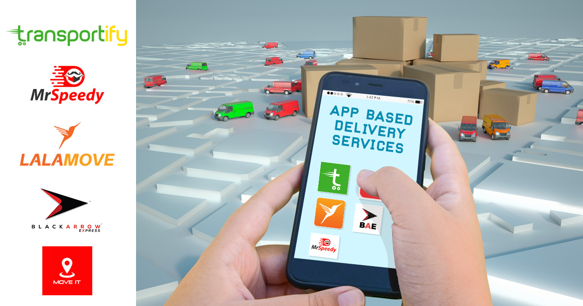List of App based Delivery Service
