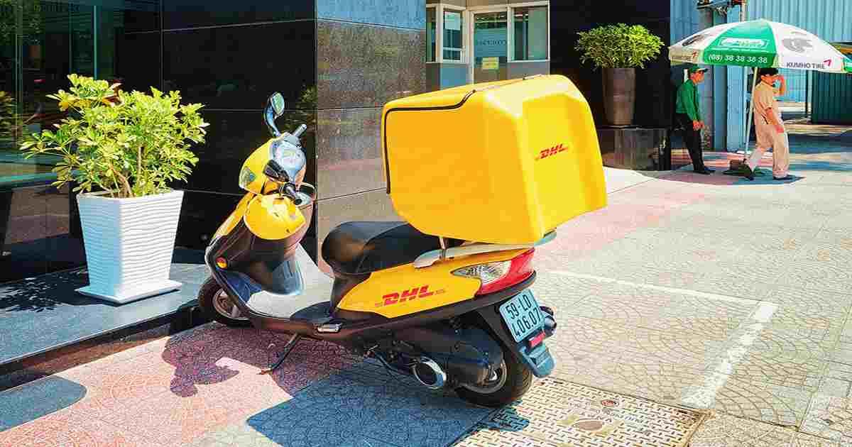 DHL motorbike