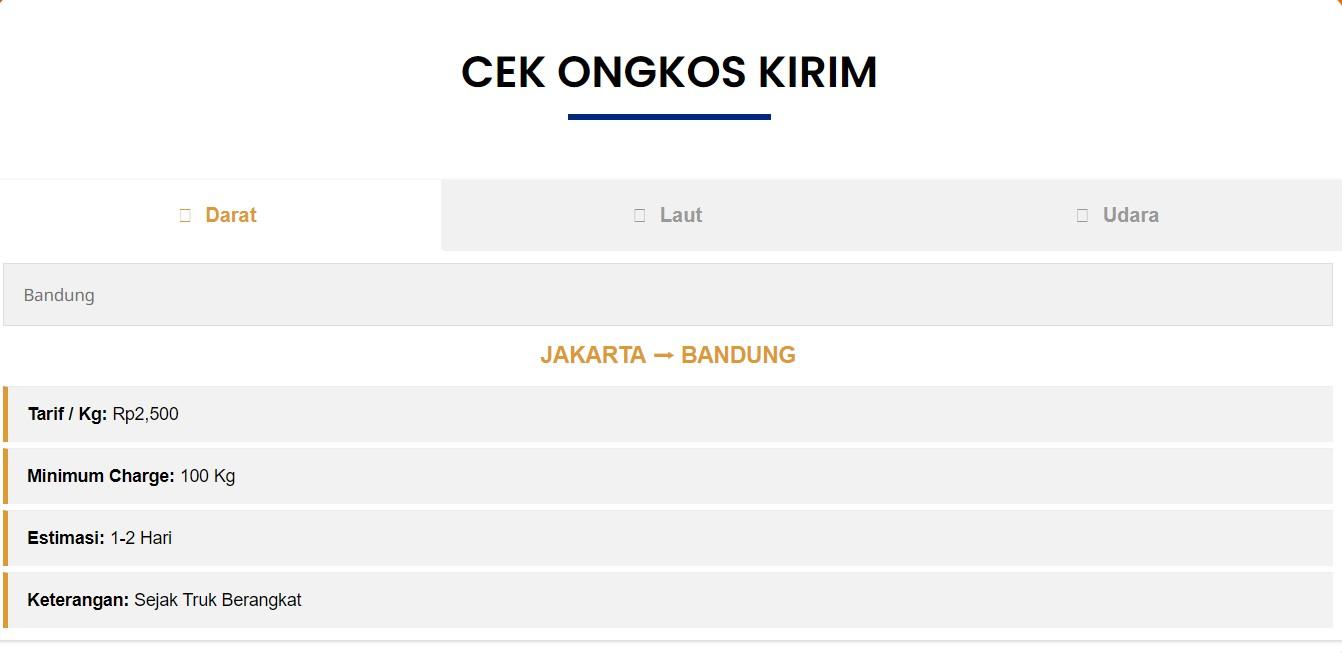 Cargonesia Ongkir
