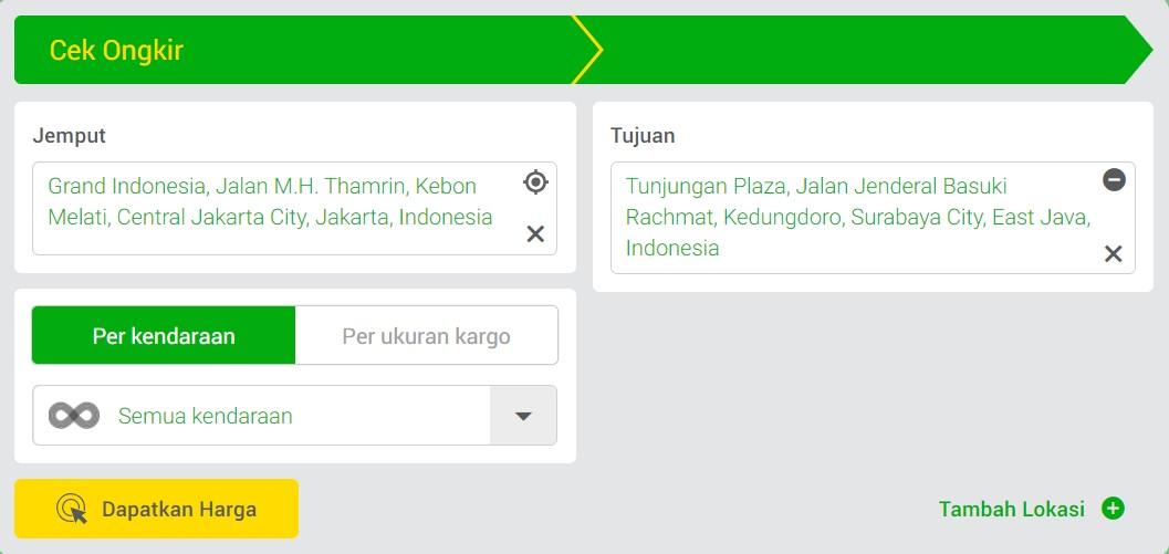 Cek Ongkir Online Deliveree