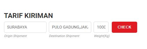 Cek Ongkir JTR JNE Trucking Cargo SiCepat