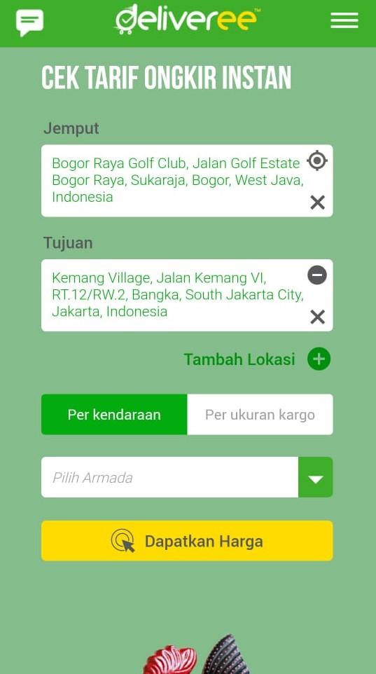 Cek Ongkir Mobile