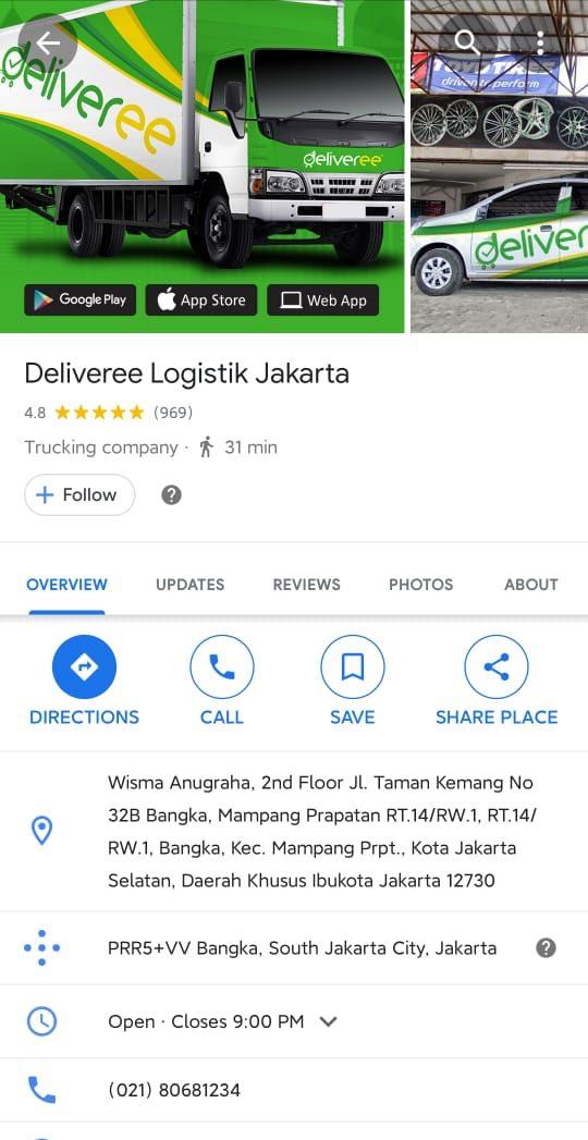Deliveree Google Maps